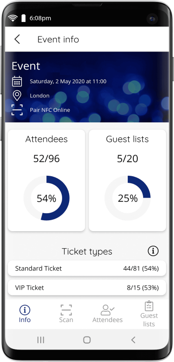 Manage event entry with branded apps.